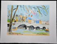 "SUPERBE  LITHOGRAPHIE Maurice UTRILLO ""  Paris Capitale, Le pont neuf  """