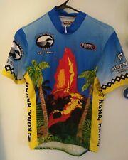 Primal Wear KONA Hawaii Volcano 3/4 Zipper Short Sleeve Cycling Jersey M