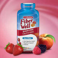 Vitafusion Fiber Well Gummy Vitamin Supplement  220 gummies Sugar Free Prebiotic