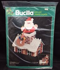Bucilla Plastic Canvas Kit Up The Chimney Christmas Centerpiece Doorstop 61067