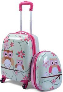 Set di Valigia Trolley per Bambini + Zaino, Bagaglio con Maniglia Retrattile