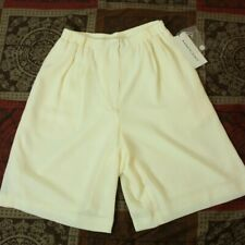 Anne Klein Women's Size 6 Beige Tan Ivory Polyester Shorts