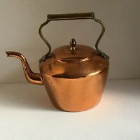 Vintage Copper and Brass Kettle Decorative Kitchenalia Country Cottage Decor