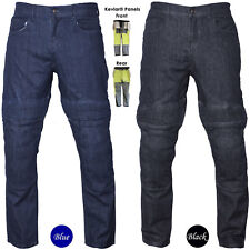 Men's Motorbike Motorcycle Trousers Stretch Denim Pants Jeans Protective Lining