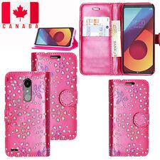 LG G6 /G7 ThinQ /Q6/Q8 /V30 /K4 /K8 2017 PU Leather Wallet Flip Stand Case Cover