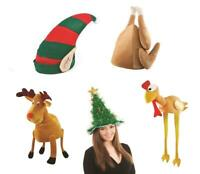 Elf Reindeer Novelty Christmas Turkey Hats Xmas Fancy Dress Party Tree Gift