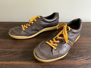 ECCO Spikeless TPU Leather/Suede Golf Shoes, Men's Size 11/11.5, Brown