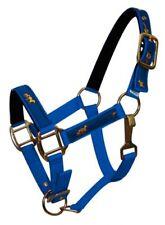 BLUE PONY Size 2 Ply Nylon Halter w/ Running Horse Overlay!! NEW HORSE TACK!!