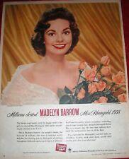 1958 Miss Rheingold Beer Madelyn Darrow Original Magazine Ad