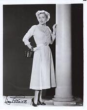 Joan Fontaine Hand Signed 8x10 Photo+Coa Beautiful Actress Oscar Winner