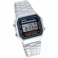 Casio Digital Casual Mens E-data-bank Silver Japan Watch A168wa-1w