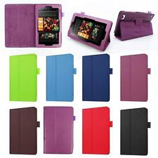 PU Leather Shell Fold Case Cover For Amazon Kindle Fire HD 7 Inch Tablet QP
