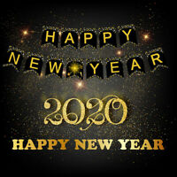 2020 Home Happy New Year Christmas Banner Hanging Decor Eve Party Celebration