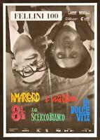 Werbeplakat Friedrich Fellini 100 Süßes Leben Amarcord Vitelloni 8 1/2 Scheich