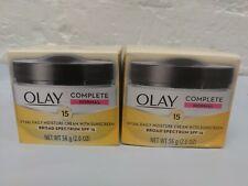 2 Olay Complete Daily Moisture Cream Sunscreen SPF 15 Broad Spectrum 2oz 2/2020