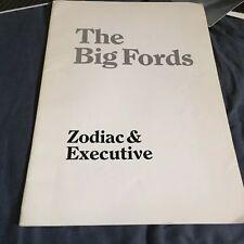 1969 British Ford Zodiac and Executive Original Color Brochure Catalog Prospekt