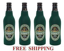 GUINNESS STOUT ST.PATRICK 4 BEER BOTTLE SUIT COOLERS KOOZIE COOLIE HUGGIE NEW