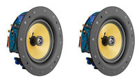 "2 Pack - TDX 8"" 2-Way Ceiling Wall Home Theater Speaker Flush Mount White Pair"