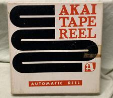 """VERY RARE Vintage Akai Metal 7"""" Reel With Original Box Reel To Reel Holy Grail!"""