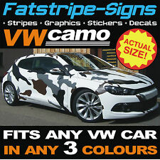 Vw Volkswagen Full Car Camo Kit Vinilo gráficos Stickers Calcomanías Sombrero Techo Golf