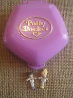 Vintage Bluebird Polly Pocket 1994 Slumber Party Fun Compact Variation Purple N1