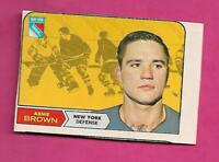 RARE 1968-69 OPC # 68 RANGERS ARNIE BROWN PRINT DEFECT CARD  (INV# C5042)
