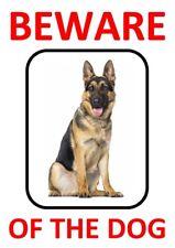 BEWARE OF THE DOG - GERMAN SHEPHERD WARNING *LAMINATED SIGN FUN*