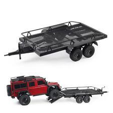 Us Rc Car Accessories All Metal Dual Axle Trailer W/ Leaf Suspension 1:10 Scale