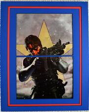 Civil War WINTER SOLDIER PRINT PROFESSIONALLY MATTED Bucky Michael Turner