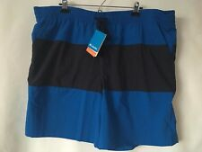 COLUMBIA MEN'S OMNI-SHADE ACTIVE SPORTSWEAR SHORTS BLACK & BLUE SIZE XXL/2TG