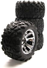 "Nitro Revo 6.3"" Maxx TIRES & Geode WHEELS (Factory Glued 17mm 5309 Traxxas tyres"