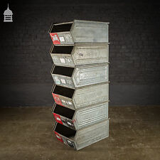 Industrial Galvanised Stackable Storage Bins Drawers