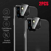 2PCS Case For iPhone 11 Pro Max 20D Tempered Glass Camera Lens Screen Protector