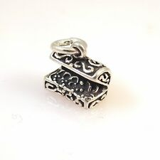 .925 Sterling Silver 3-D TREASURE HOPE CHEST CHARM NEW Pendant 925 MY16