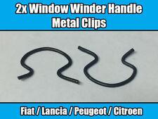 2x Window Winder Handle Metal Clips For Fiat Lancia Peugeot Citroen 4138439