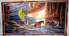 """24"""" Fabric Panel - Sundance Horse Canyon River Wallhanging - Quilting Treasures"""