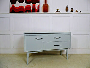 VINTAGE RETRO LEBUS PAINTED SIDEBOARD TV STAND DRINKS GIN BAR CABINET 60s