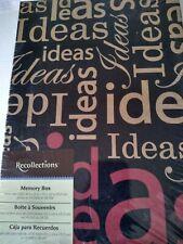 Recollections IDEAS Storage Shoe Photo Memory Box Entrepreneur Business Office