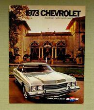 Vintage Original 1973 CHEVROLET Sales Brochure Caprice Impala Bel Air Wagons Kid