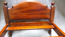 Vintage 4 Poster Wood Doll Bed with Bed Skirt and Comforter