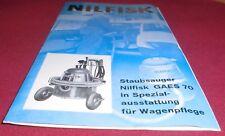 prospekt blatt nilfisk staubsauger GAES 70 kfz ausführung reklame werbung 1965