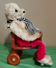Vintage Merrythought Limited Edition Attic Bear on a Trike Boxed w/Coa & Shipper