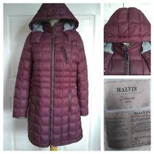 "Malvin Padded Puffa Down Coat Winter Jacket Burgundy Size 18 /20 46"" Germany"