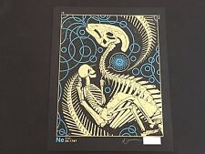 DAN MCCARTHY - Neon - RARE SIGNED art screen print - metallic gold blue on black