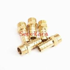 "LOT 5 Hose Barb I/D 10mm x 1/4"" BSP Male Brass coupler Splicer Pipe fitting"