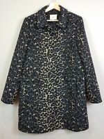 [ ANN TAYLOR Loft ] Womens Animal Print Coat Jacket | Size L or AU 14 or US 10