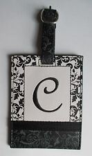 g C INITIAL LUGGAGE TAG bag ID suitcase vegan letter NWT travel accessory ganz