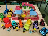 Bob The Builder Builders Yard With 10 Vehicles 7 Figures + Accessories Playset