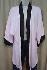 Alfani Intimates Robe Sz L XL Posy Pink Black Modal Jersey Knit Sleepwear