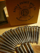 "NEW 2 1/2"" #12 Wood Screws Flat Head Bright Zinc Pltd,Lot 25,Reed & Prince Mfg."